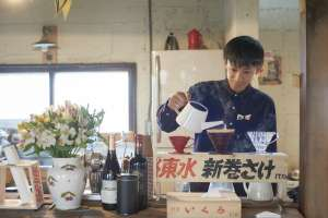 Gotenzan Tea Lab.のアキラくんが出張で来てくれてます。