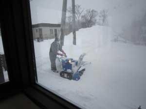 今年一番の雪 -