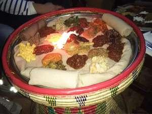 昨日食べたエチオピア料理  -