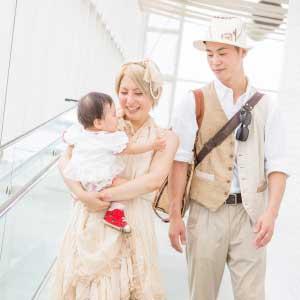 お誕生日・家族写真の出張撮影@1歳のお誕生日記念/葛西臨海公園/東京都/江戸川区 -