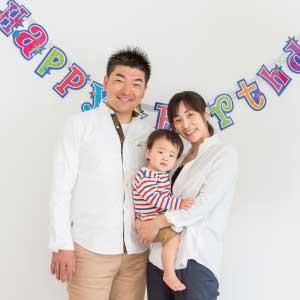 お誕生日・家族写真の出張撮影@1歳のお誕生日記念/東京都/江東区
