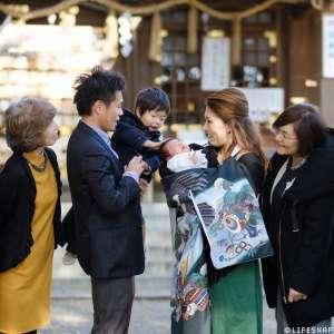 お宮参りの出張撮影@検見川神社/千葉県/千葉市花見川区