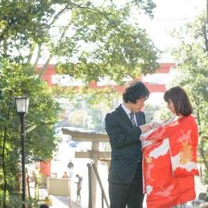 お宮参りの出張撮影@世田谷八幡宮/東京都/世田谷区