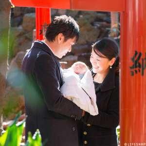 お宮参りの出張撮影@鳩森八幡神社/東京都/渋谷区 -