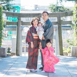 七五三とお宮参りの出張撮影@沼袋氷川神社/東京都/中野区 -