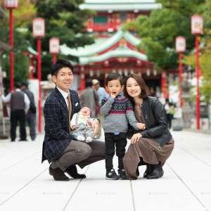 お宮参りの出張撮影@富岡八幡宮/東京都/江東区 -