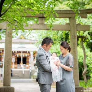 お宮参りの出張撮影@花畑大鷲神社/東京都/足立区 -