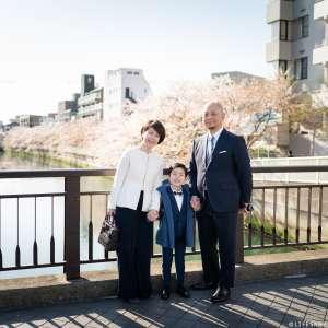 家族写真の出張撮影@入学の記念/東京都/江東区 -
