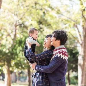 お誕生日・家族写真の出張撮影@ハーフバースデーの記念/東京都/世田谷区/駒沢公園 -