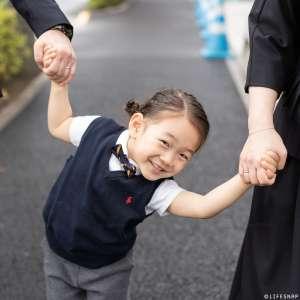 家族写真の出張撮影@入園の記念/東京都/新宿区/筑土八幡神社 -