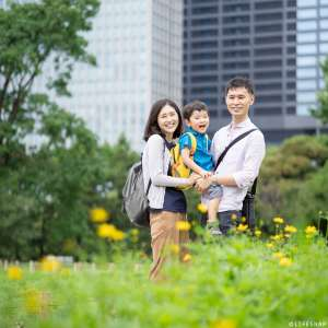 お誕生日・家族写真の出張撮影@3歳のお誕生日記念/東京都/中央区 -