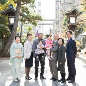 七五三と1歳の記念の出張撮影@桜神宮/東京都/世田谷区 -