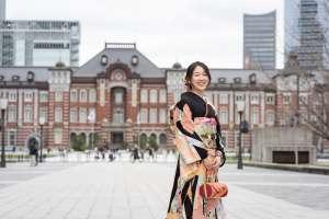 家族写真の出張撮影@成人式の後撮り/東京都/千代田区/東京駅丸の内周辺 -
