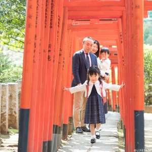 家族写真の出張撮影@入学の記念/東京都/文京区/ 根津神社 -