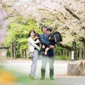 家族写真の出張撮影@入学の記念/東京都/練馬区/ 石神井公園 -