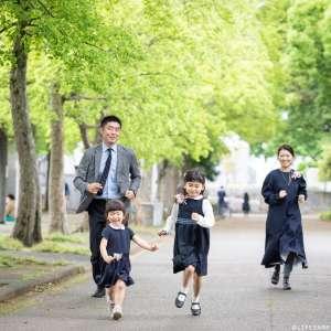 家族写真の出張撮影@入学の記念/東京都/世田谷区/ 駒沢公園 -