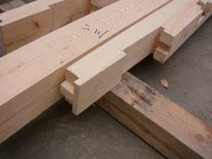 土台刻み 金輪継ぎ Joint for roof structure