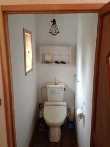 トイレができて一気に家らしくなりました。