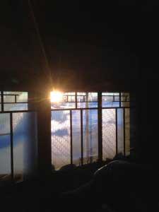 夕陽がきれい。昼間は結構陽が射します。