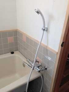 一週間後、ようやくシャワー設置!(涙)